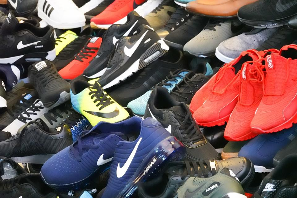 footwear is also commonly counterfeited