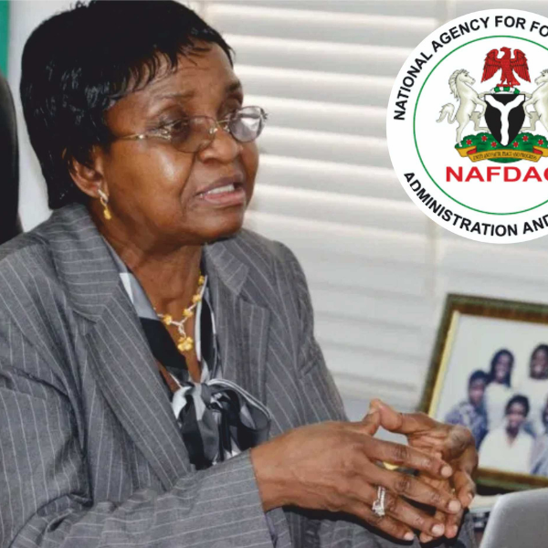 prof mojisola adeyeye, NAFDAC Director General speaks on banning alcohol in sachet