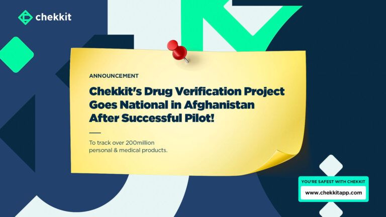 chekkit going national with drug verification and tracking anti-counterfeit solution